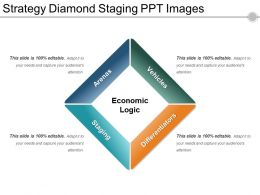Strategy Diamond Staging Ppt Images