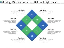 Strategy Diamond With Four Side And Eight Small Squares