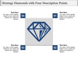 Strategy Diamonds With Four Description Points