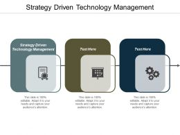 Strategy Driven Technology Management Ppt Powerpoint Presentation Show Guide Cpb