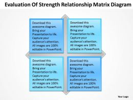 Strategy Evaluation Of Strength Relationship Matrix Diagram Powerpoint Templates 0527
