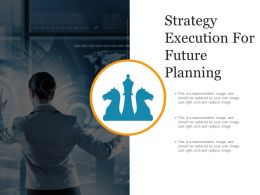 Strategy Execution For Future Planning Presentation Visual Aids