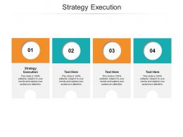 Strategy Execution Ppt Powerpoint Presentation Visual Aids Portfolio Cpb