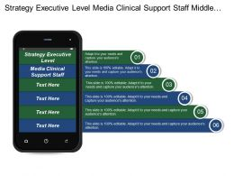 Strategy Executive Level Media Clinical Support Staff Middle Management