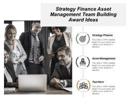 Strategy Finance Asset Management Team Building Award Ideas Cpb
