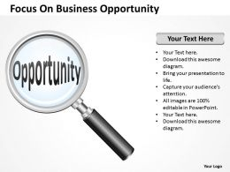 Strategy Focus On Business Opportunity Powerpoint Templates 0527