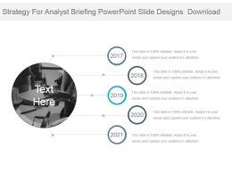 Strategy For Analyst Briefing Powerpoint Slide Designs Download