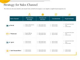 Strategy For Sales Channel Expected Ppt Powerpoint Presentation Infographic Template Graphics