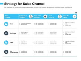 Strategy For Sales Channel M2936 Ppt Powerpoint Presentation Inspiration Elements