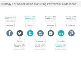 Strategy For Social Media Marketing Powerpoint Slide Ideas