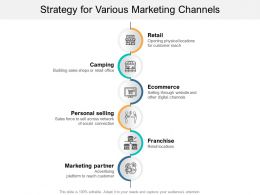 Strategy For Various Marketing Channels