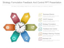 Strategy Formulation Feedback And Control Ppt Presentation