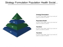 Strategy Formulation Population Health Social Condition Personals Finance