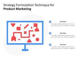 Strategy Formulation Technique For Product Marketing