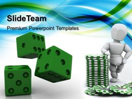 Strategy Game Powerpoint Templates Green Dices Business Ppt Designs