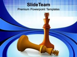 strategy_game_powerpoint_templates_king_defeats_chess_leadership_ppt_slides_Slide01