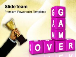 Strategy Game Powerpoint Templates Over Winner Success Ppt Presentation