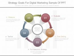 Strategy Goals For Digital Marketing Sample Of Ppt
