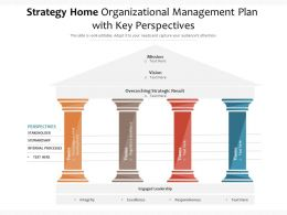 Strategy Home Organizational Management Plan With Key Perspectives