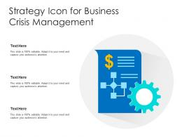 Strategy Icon For Business Crisis Management