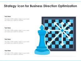 Strategy Icon For Business Direction Optimization