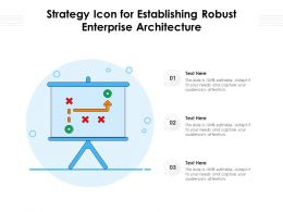 Strategy Icon For Establishing Robust Enterprise Architecture