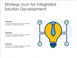 Strategy Icon For Integrated Solution Development