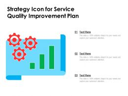 Strategy Icon For Service Quality Improvement Plan