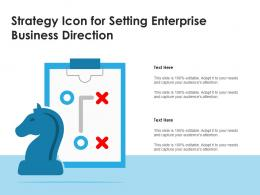 Strategy Icon For Setting Enterprise Business Direction