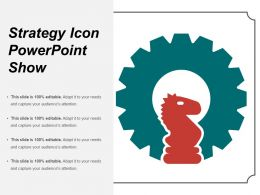 Strategy Icon Powerpoint Show