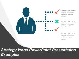 Strategy Icons Powerpoint Presentation Examples