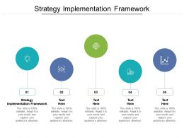 Strategy Implementation Framework Ppt Powerpoint Presentation Visuals Cpb