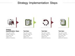Strategy Implementation Steps Ppt Powerpoint Presentation Ideas Background Cpb