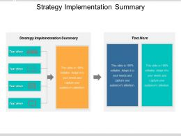 Strategy Implementation Summary Ppt Powerpoint Presentation Icon Gridlines Cpb