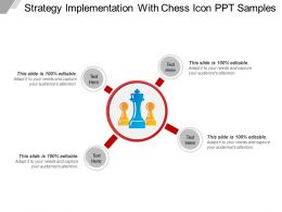Strategy Implementation With Chess Icon Ppt Samples
