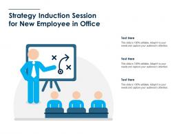 Strategy Induction Session For New Employee In Office