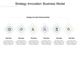 Strategy Innovation Business Model Ppt Powerpoint Presentation Gallery Deck Cpb