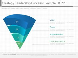 Strategy Leadership Process Example Of Ppt