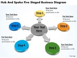 Strategy Management Consultants Hub And Spoke Five Staged Business Diagram Powerpoint Slides 0523