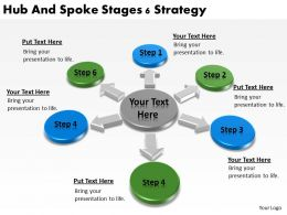 Strategy Management Consultants Hub And Spoke Stages 6 Powerpoint Slides 0523