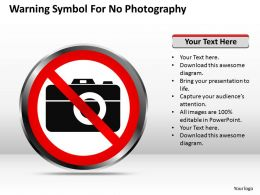 Strategy Management Consultants Warning Symbol For No Photography Powerpoint Templates 0528