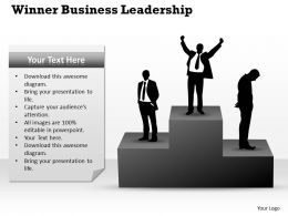 Strategy Management Consultants Winner Business Leadership Powerpoint Templates 0528