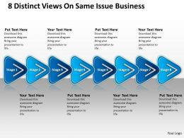 Strategy Management Consulting 8 Distinct Views Same Issue Business Powerpoint Slides 0522