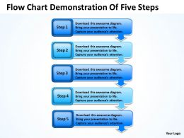 Strategy Management Consulting Flow Chart Demonstration Of Five Steps Powerpoint Slides 0522