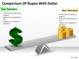 Strategy Management Consulting Of Rupee With Dollar Powerpoint Templates PPT Backgrounds For Slides 0617