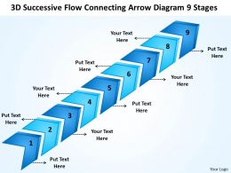 Strategy Management Consulting Successive Flow Connecting Arrow Diagram 9 Stages Powerpoint Slides 0522