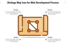 Strategy Map Icon For Web Development Process