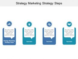 Strategy Marketing Strategy Steps Ppt Powerpoint Presentation Layouts Templates Cpb