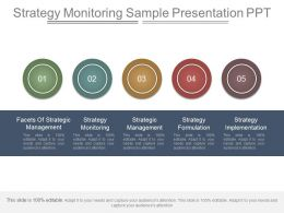 Strategy Monitoring Sample Presentation Ppt