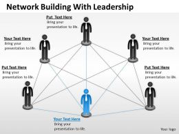 Strategy Network Building With Leadership Powerpoint Templates PPT Backgrounds For Slides 0618